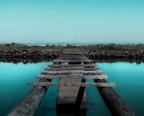 FTK KUNST blå bro vandmærke skansehavnen